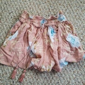 XS Light Pink floral shorts